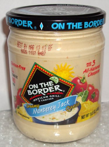 On the Border Creamy Monterrey Jack Queso Dip 15.5 Oz (Pack of 4)