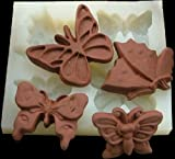 More Allforhome 4 Butterfly Silicone Handmade Dessert Candy Making Molds Chocolate DIY Mold