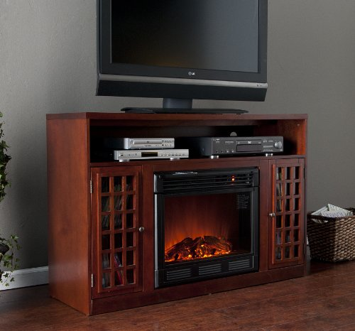 Akita Mahogany Media Electric Fireplace (Mahogany) (32.5