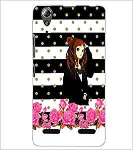 PrintDhaba Beautiful Girl D-1118 Back Case Cover for LENOVO A6000 (Multi-Coloured)