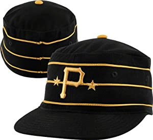 Pittsburgh Pirates 1977-86 Cooperstown Fitted Cap - Black 7 1 8 by MLB