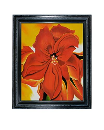 Georgia O'Keeffe Red Amaryllis, 1937 Framed Hand-Painted Reproduction