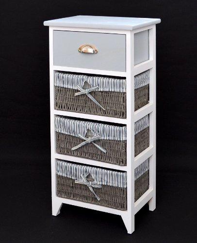 Muebles Baño Estilo Antiguo:Cómoda en estilo antiguo, armario para baño, estantería en gris y