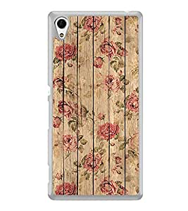 ifasho Modern Art Design painted flower on wood Back Case Cover for Sony Xperia Z3 Plus