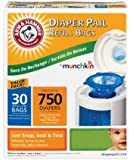 Munchkin All New Mega Pack Arm & Hammer Diaper Pail Refill Bags -90 Bags