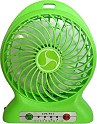 Maxxlite Portable Electronic Cooling Fan with built in Power Bank Green