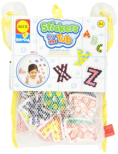 ALEX Toys Rub a Dub Stickers for the Tub ABC's Abc Bath