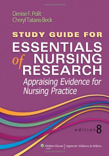 Study Guide For Essentials Of Nursing Research front-815330