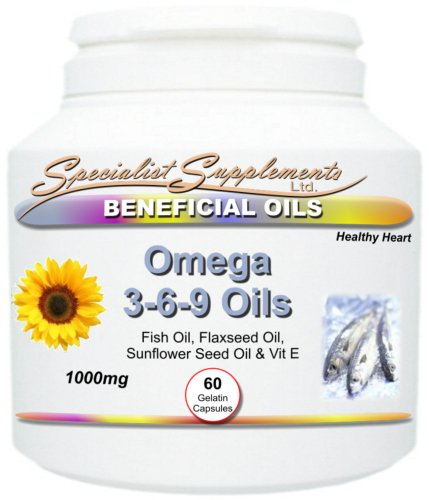 OMEGA 3-6-9 Oils with Fish Oil Supplement (60 capsules per tub) - Maintain a Healthy Heart