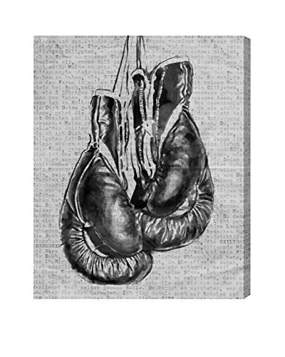 Oliver Gal Hatcher & Ethan 'Winning Jab' Canvas Art