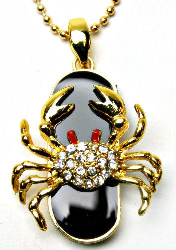 Horoscope CANCER The Crab Zodiac Necklace 8GB USB Flash Drive - in Gift box - with GadgetMe Brands TM Stylus Pen and comes in GadgetMe retail packaging