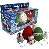 Christmas Ornament Grow Egg Hatchems - Hang 'Em and Hatch 'Em X-Mas Hatching Eggs - Grow Three Different Super Sized Pets!