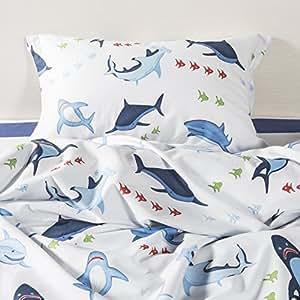 lindo en las hojas de cama de mar para los adolescentes Queen Size