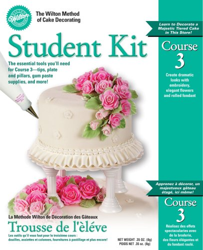 Flowers And Cake Design Student Kit Contents : Wilton Cake Decorating Supplies: Wilton Course 3 Student Kit