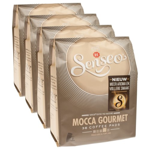 Order Senseo Mocca Gourmet, New Design, Pack of 4, 4 x 36 Coffee Pods - Douwe Egberts
