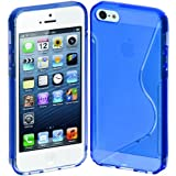 Cimo S-Line Back Case Flexible Cover TPU for Apple iPhone 5 - Blue