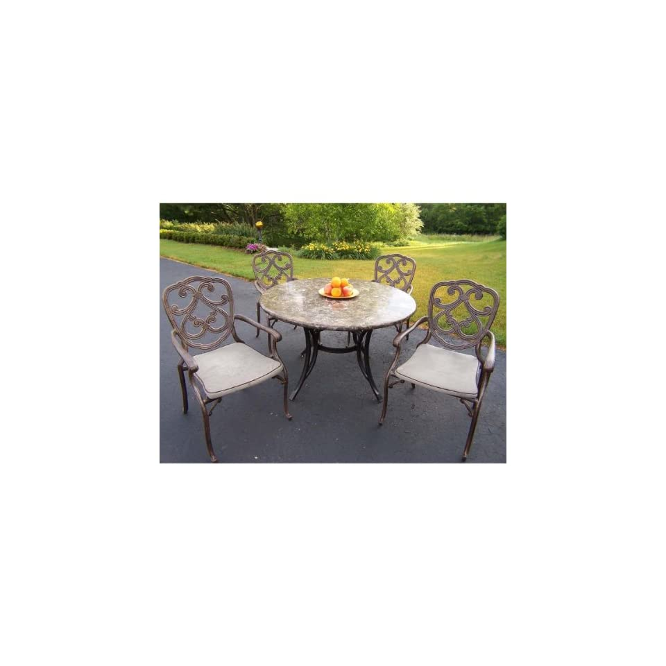 Oakland Living Pacifica Outdoor Dining Set Stone Top Table