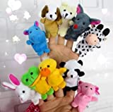 10x Farm Zoo Animal Finger Puppets Toys Boys Girls Babys Party