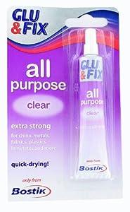 Bostik All Purpose Glu & Fix Clear Extra Strong Glue 20ml