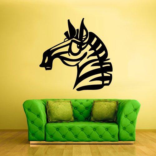 Wall Vinyl Sticker Decals Decor Art Bedroom Design Mural Funny Cartoon Zebra Horse Kids Baby (Z483) front-898562