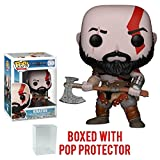 Funko Pop! Games: God of War - Kratos with Axe Vinyl Figure (Bundled with Pop Box Protector Case)