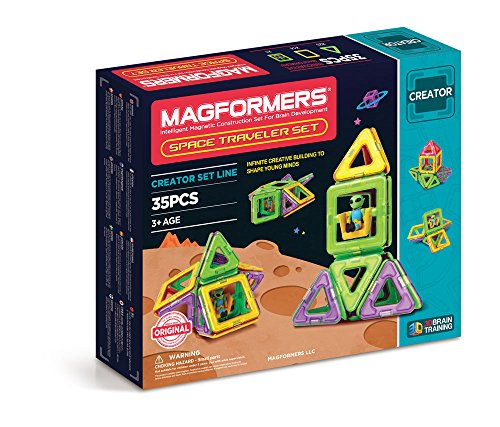 MAGFORMERS Space Traveler Set (35 Piece) JungleDealsBlog.com