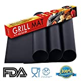 Onelemon Nonstick Grill Mat 15.75 x 13 Inch (Sef of 3) Heavy Duty BBQ & Grilling Sheet for Gas, Charcoal, Electric Grill