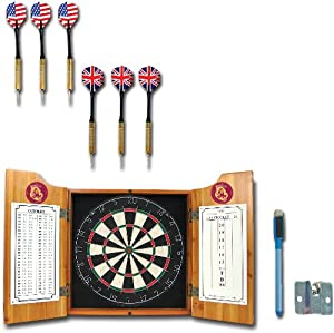 NCAA Arizona State dart cabinet with Darts and Board by Trademark