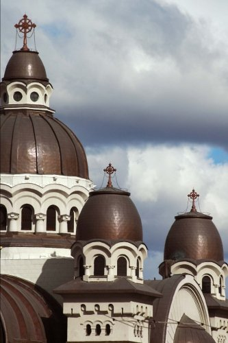 roman-catholic-church-in-targu-mures-romania-lined-journal