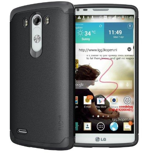 Tudia Ultra Slim Lite Tpu Bumper Protective Case For Lg G3 (2014) (Black)