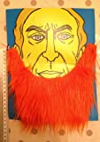 FDC Assorted Colours Beard Facial Hair Fancy Dress Costume Accessory