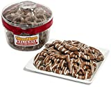 NomNom Delights Gourmet Milk Chocolate Covered Pretzels Drizzled with White Chocolate & Handmade - Comes In A Gift Box - Kosher Certified