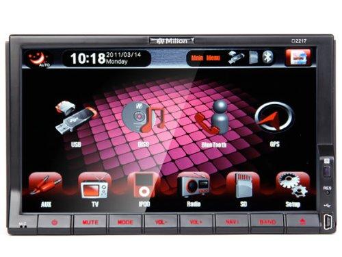 "Milion D2217 Car 7""hd 2din Tv Bluetooth DVD Receiver+Detachable Panel Steering Wheel Fm Ipod"