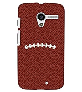 PrintHaat Designer Back Case Cover for Motorola Moto X :: Motorola Moto X (1st Gen) XT1052 XT1058 XT1053 XT1056 XT1060 XT1055 (football lover :: soccer player :: football in the ground :: football in the net :: football illusion :: in blue, black, green, white and brown)