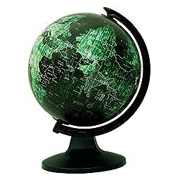 Desktop Rotating Globe Earth Green Ocean Geography World Table Décor 11.5\