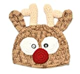 Christmas Santa s Reindeer Crochet Toddler Baby Girl Boy Hat Beanie