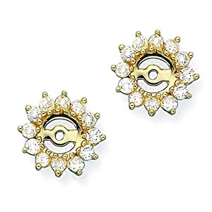 14K Yellow Gold 1 ct. Diamond Earring Jackets