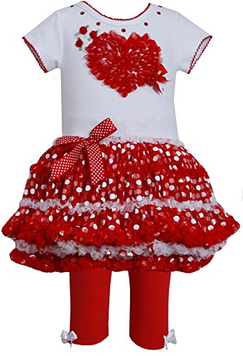 Bonnie Jean Baby-Girls Heart Polka Dot Tutu Set