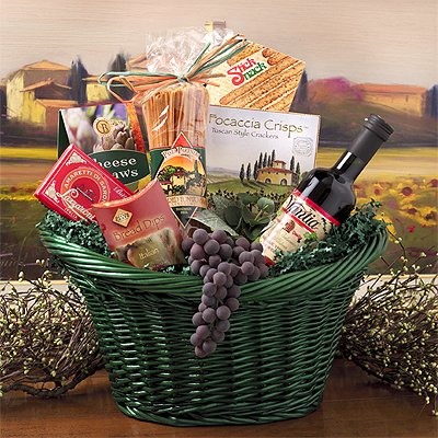 A TASTE OF TUSCANY LARGE GIFT BASKET - ITALIAN STYLE FOODS OF ITALY
