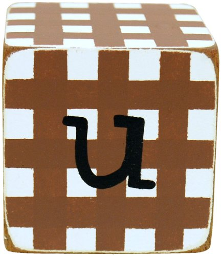 New Arrivals Letter Block U, Chocolate/White