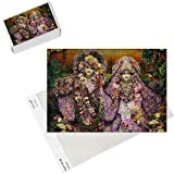 Photo Jigsaw Puzzle of Krishna and Rada statues in Bhaktivedanta Manor ISKCON (Hare Krishna) temple from Robert Harding