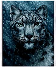 CafePress Snow Leopard Throw Blanket - Standard Multi-color
