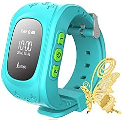 Ilov Jm11 Kids Gps Watch Child Watch Children GPS Tracker SOS Emergency Call Telecom Monitor With a Bookmarker (Blue)