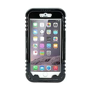 SHARKS.BOX Waterproof Hybrid Rugged Heavy Duty Shockproof Dirt Proof Durable Hard Full Case for Apple iPhone 6 Plus - Retail Packaging - Black