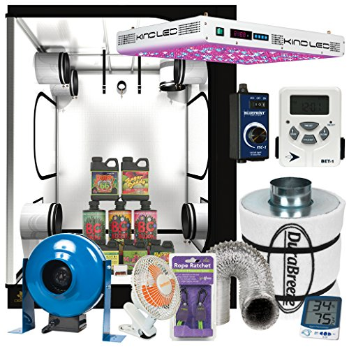 Complete 5 x 5 KIND LED XL1000 Grow Tent Package w/ Filter, Fan and more