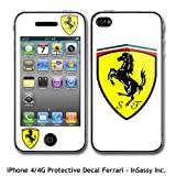iPhone 4 / 4G Ferrari Logo Decal Vinyl Sticker Skin