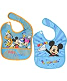 Disney Baby-boys Funny Mickey and Friends Pocket Bibs (2 Pack)
