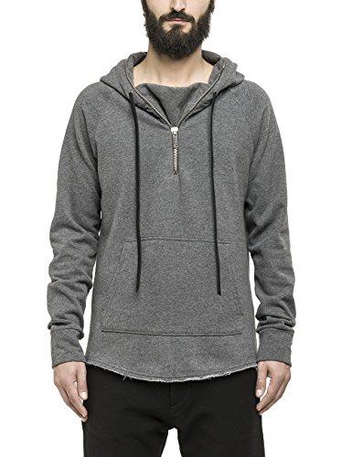Replay - Hoodie, Felpa da uomo, grigio (dark melangr grey m21), XL