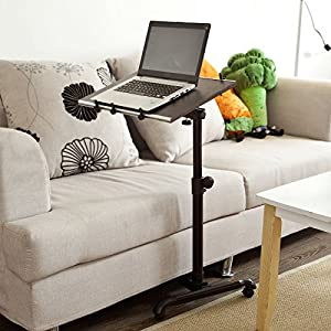 Sobuy nursing home auto touch overbed table bed table for Divan overbed table