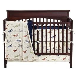 Vintage Airplanes 4 Pc Crib Bedding Set Target